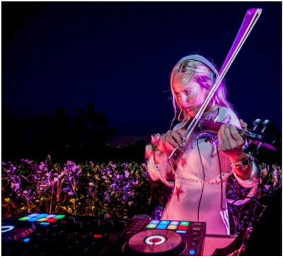 Kat V Electric Violinist and DJ 202-369-1063