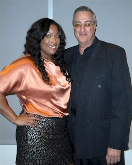 Celebrity DJ Spinderella of Salt-N-Pepa with Mark Sonder