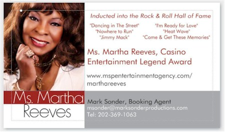 Martha Reeves Booking Agent